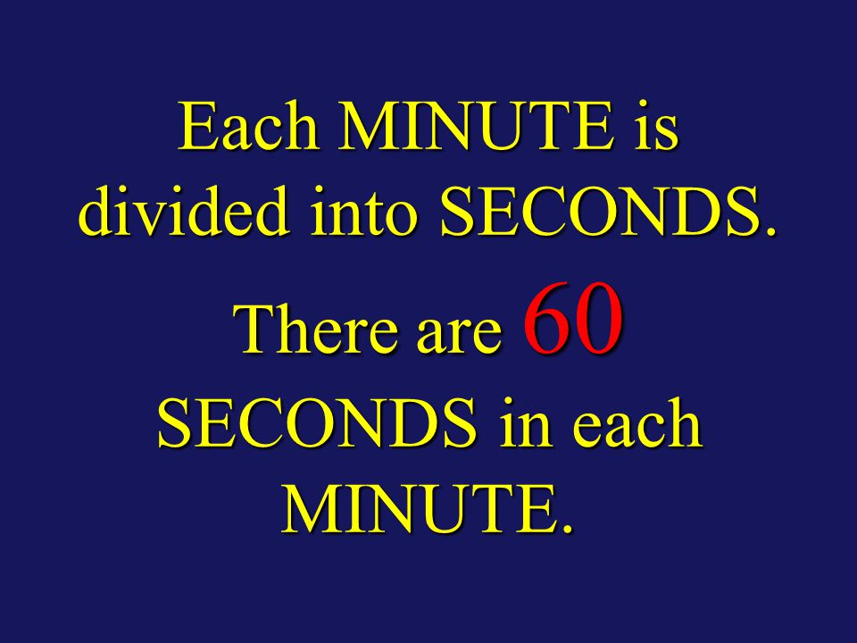 Each DEGREE is divided into MINUTES. There are 60 MINUTES in each DEGREE.