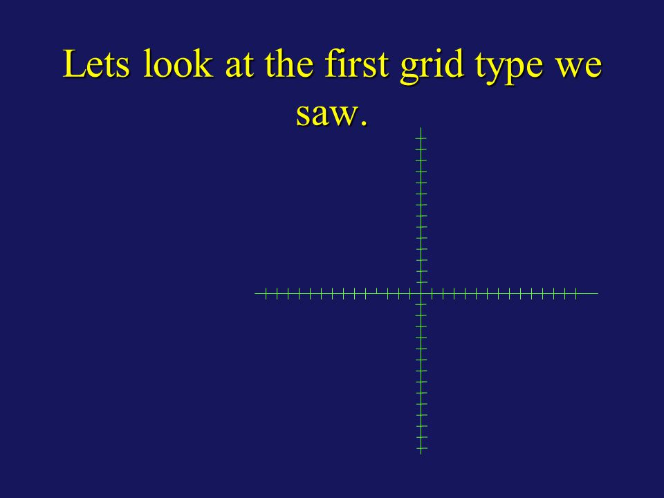 Lets look at the first grid type we saw.