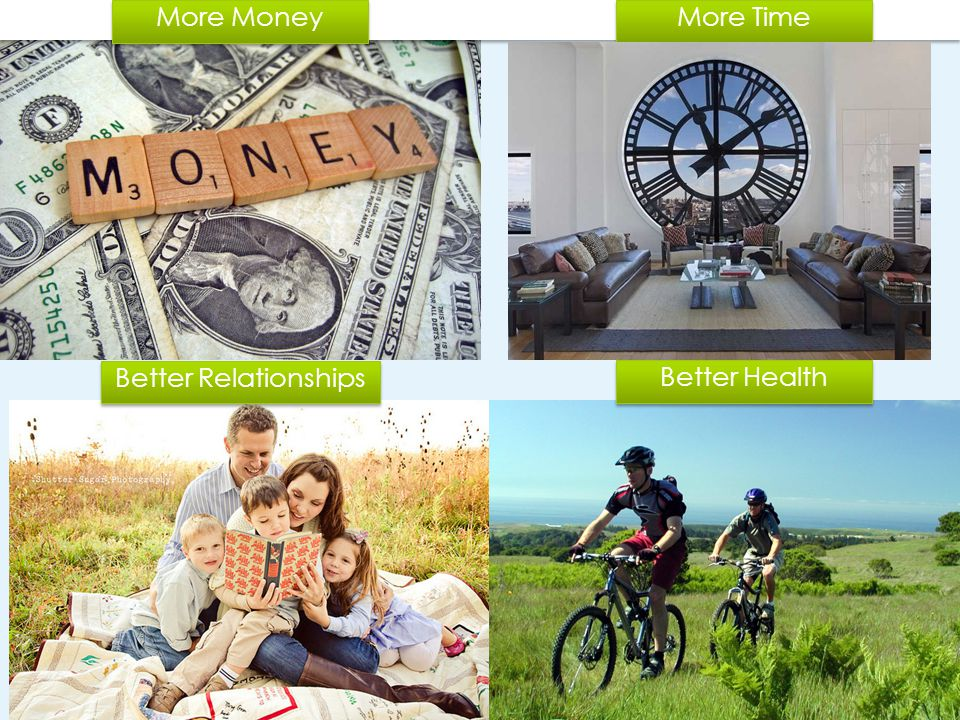 More Money More Time Better Relationships Better Health