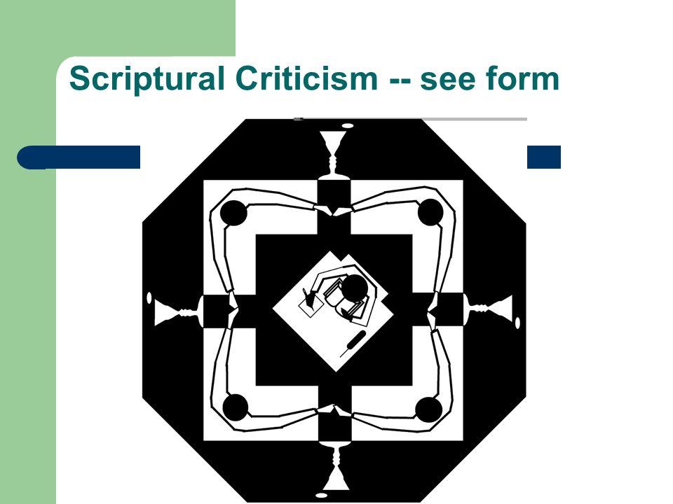 Scriptural Criticism -- see form