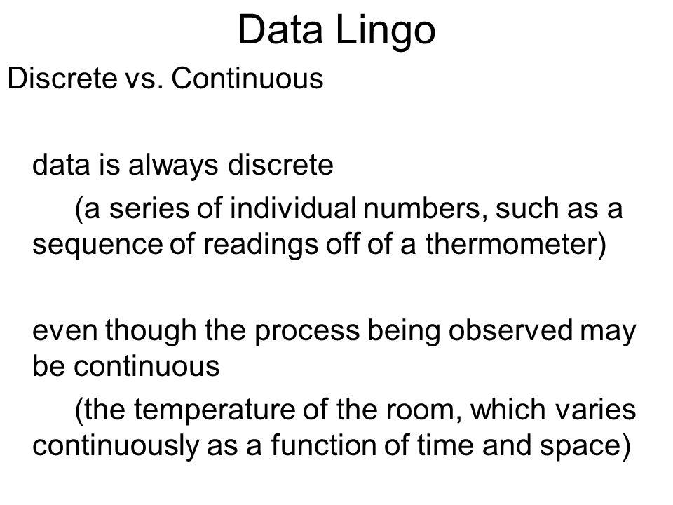 Data Lingo Discrete vs.