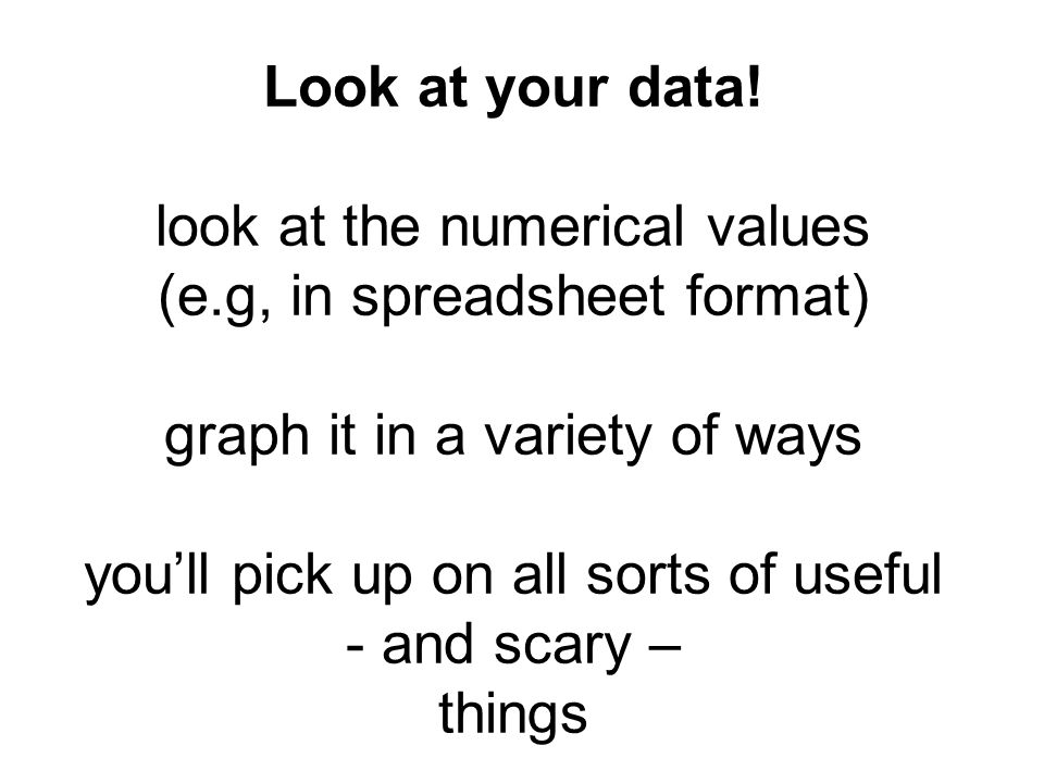 Look at your data.