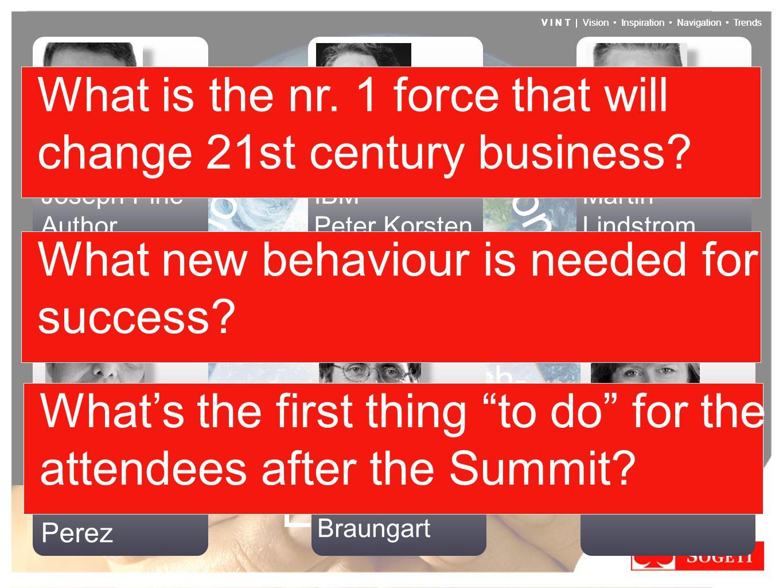 V I N T | Vision Inspiration Navigation Trends Don't Be Evil Trans- parency Tech- nology Trust Economy V I N T | Vision Inspiration Navigation Trends