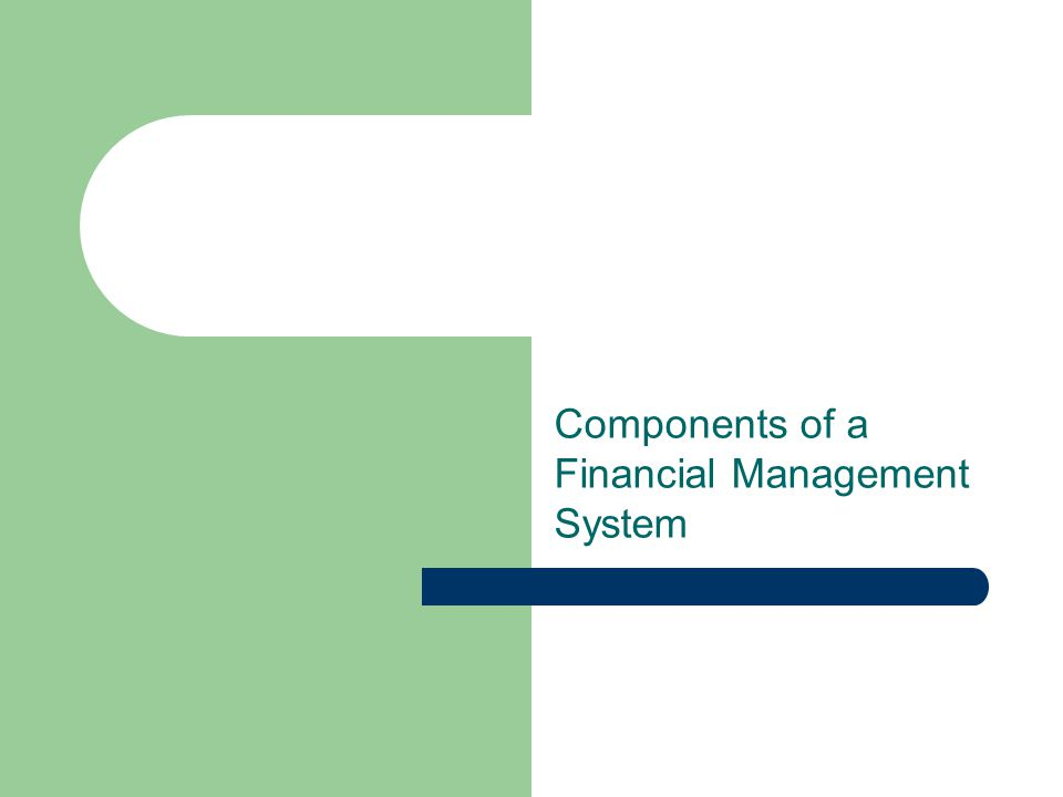 Components of a Financial Management System