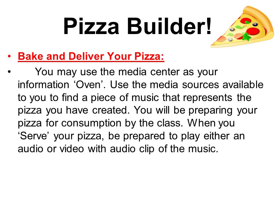 Pizza Builder.