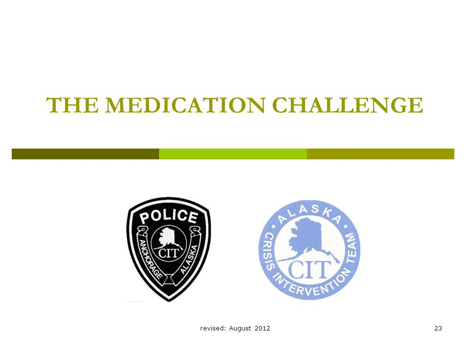 revised: August 201223 THE MEDICATION CHALLENGE