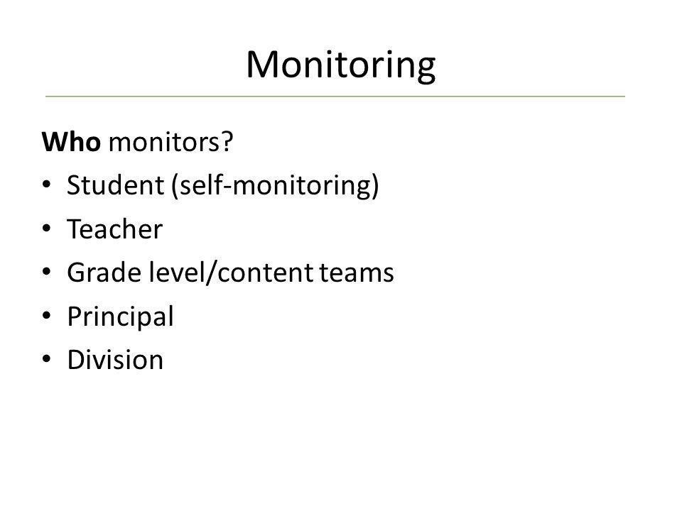 Monitoring Who monitors.
