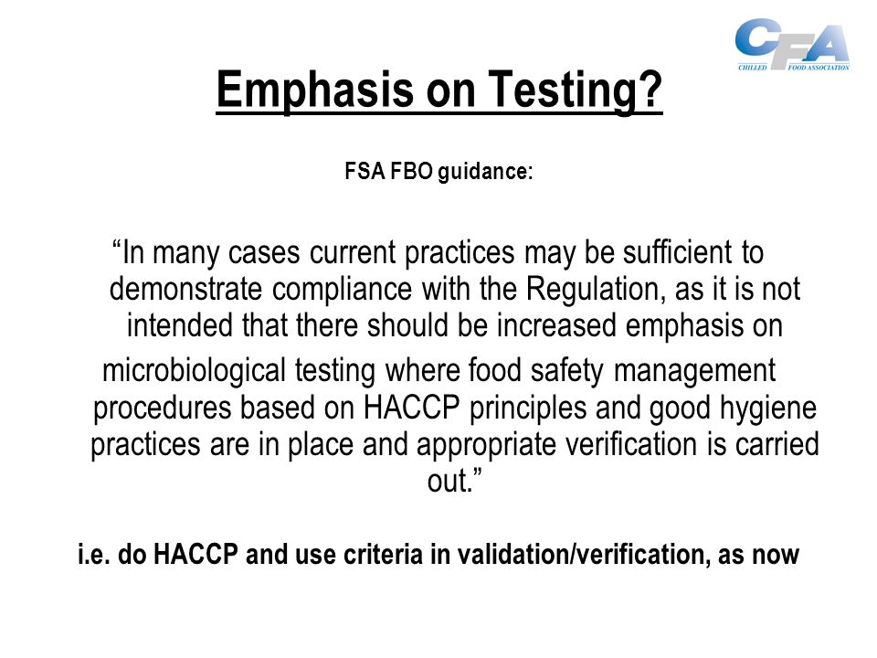 Emphasis on Testing.