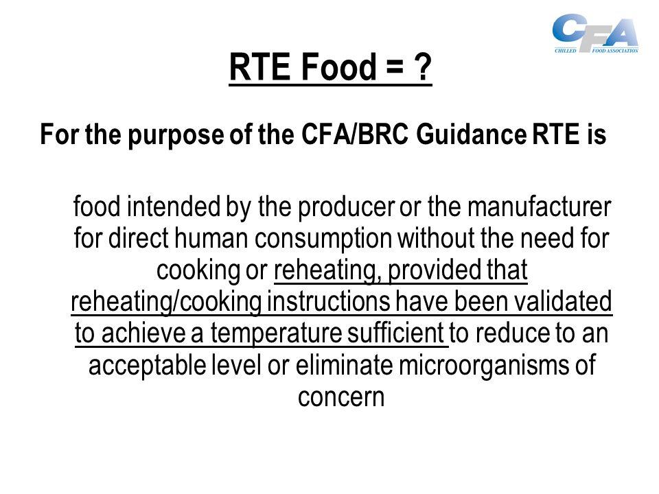 RTE Food = .
