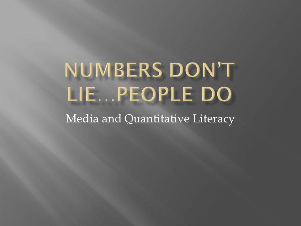 Media and Quantitative Literacy