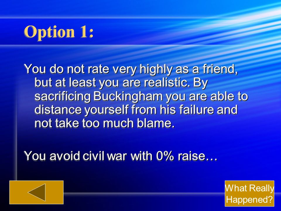 Option 1: You do not rate very highly as a friend, but at least you are realistic.