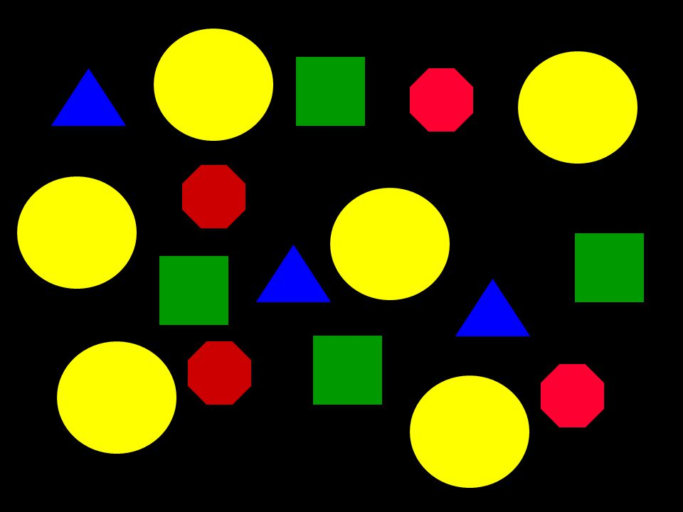 Quick Test... Count the green squares (you will have three seconds)