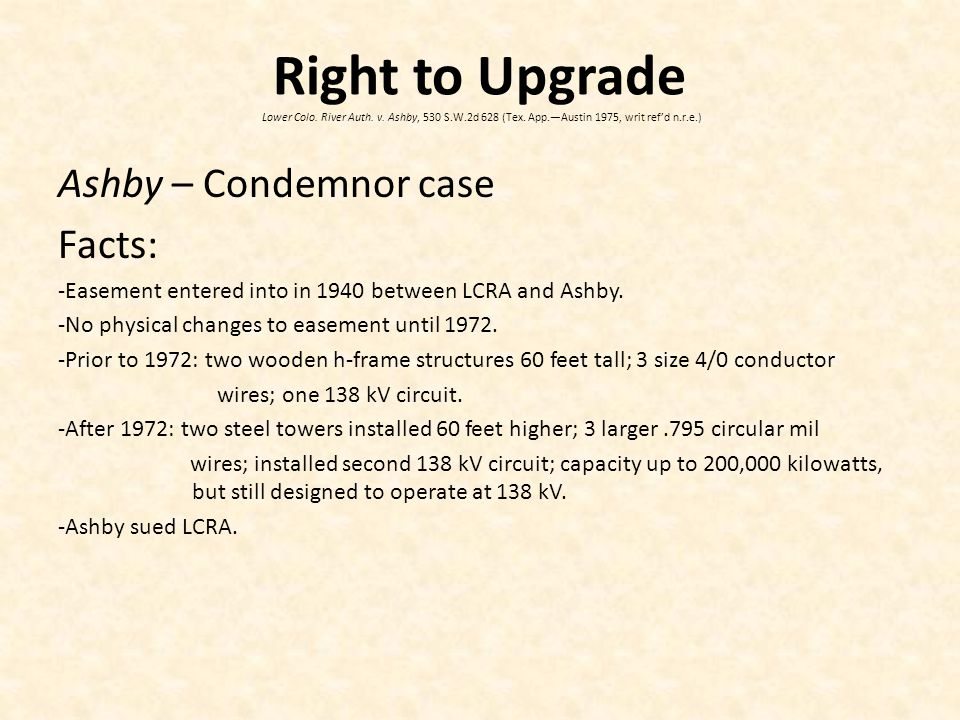 Right to Upgrade Lower Colo. River Auth. v. Ashby, 530 S.W.2d 628 (Tex.