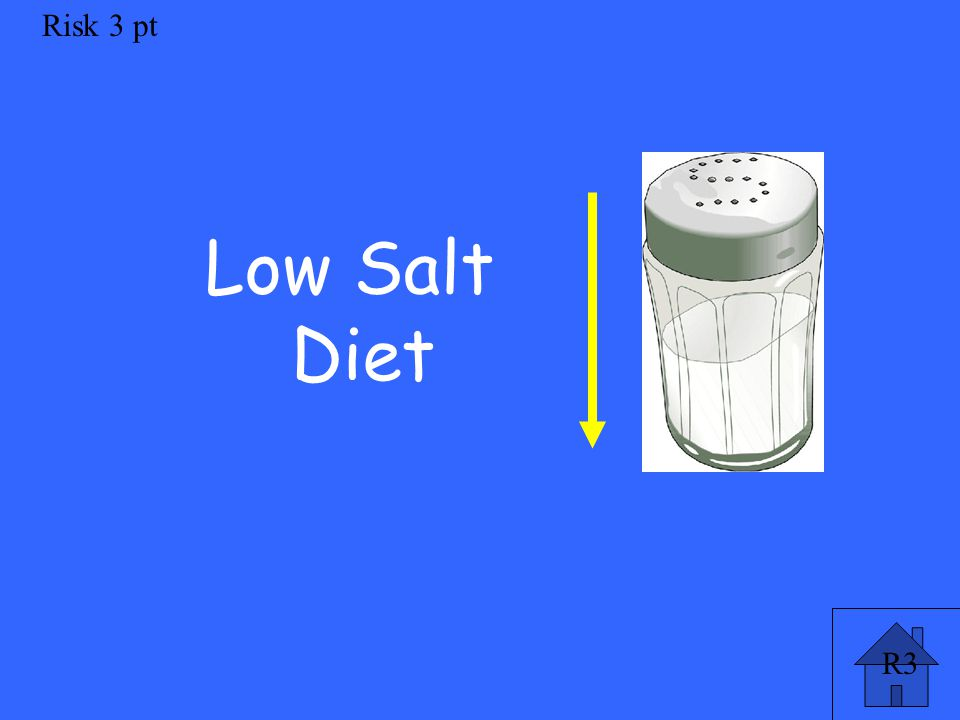 R3 Risk 3 pt Low Salt Diet