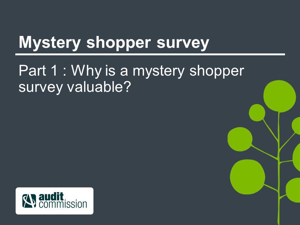Mystery shopper survey Part 1 : Why is a mystery shopper survey valuable?