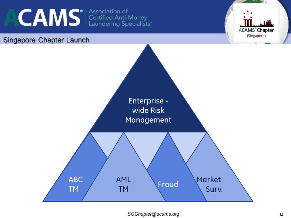 Singapore Chapter Launch SGChapter@acams.org 14