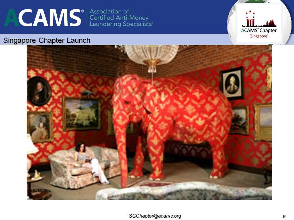 Singapore Chapter Launch SGChapter@acams.org 15