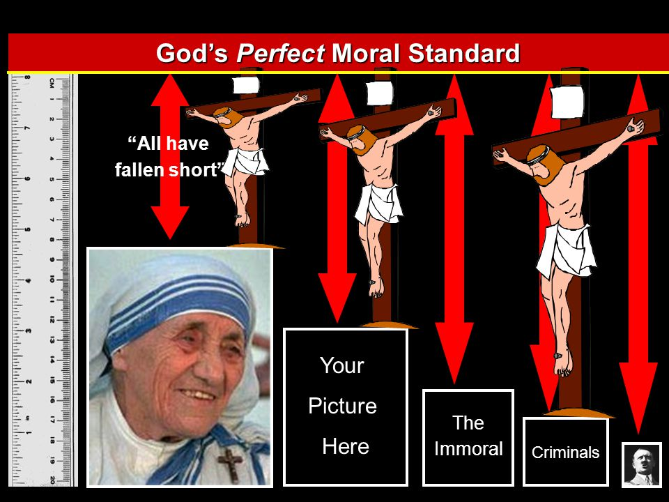 Your Picture Here Criminals The Immoral God's Perfect Moral Standard All have fallen short