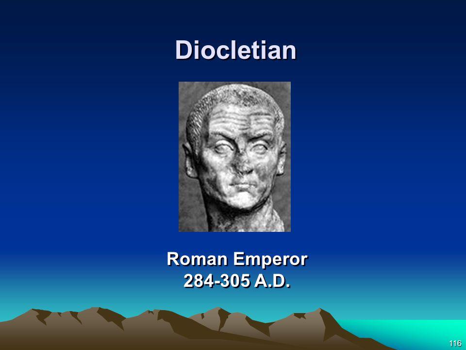 116 Roman Emperor 284-305 A.D. Diocletian