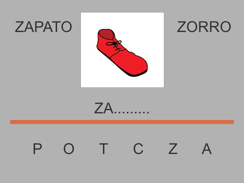 ZAPATO P O T C Z A ZORRO Z............