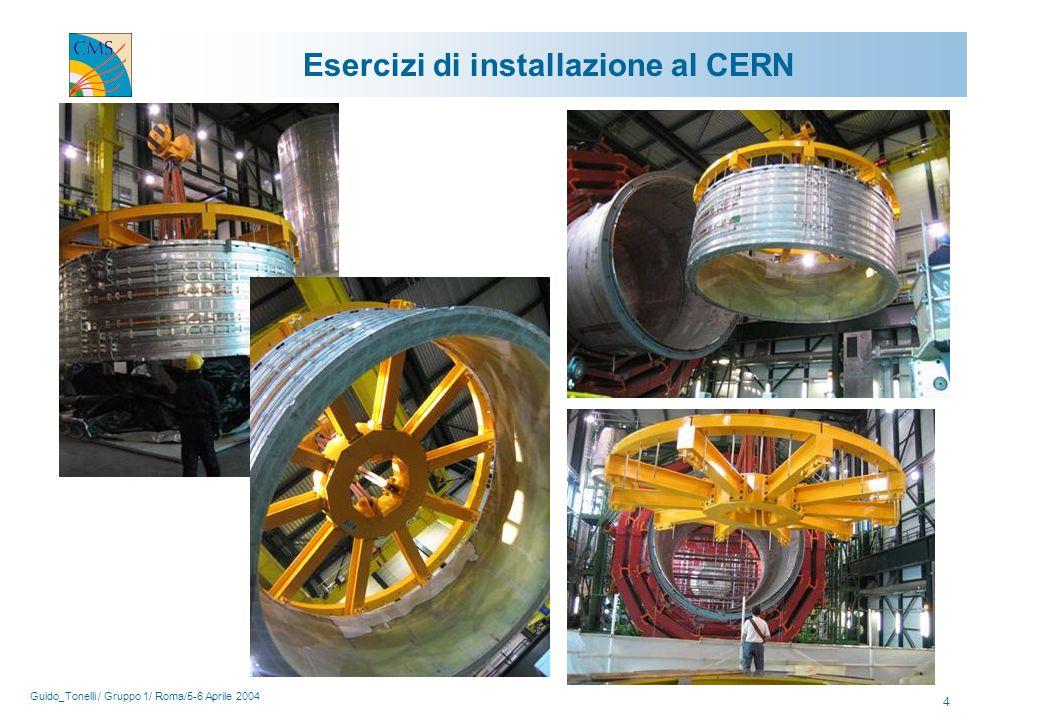Guido_Tonelli / Gruppo 1/ Roma/5-6 Aprile 2004 4 Esercizi di installazione al CERN