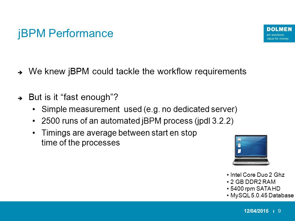jBPM Performance  We knew jBPM could tackle the workflow requirements  But is it fast enough .