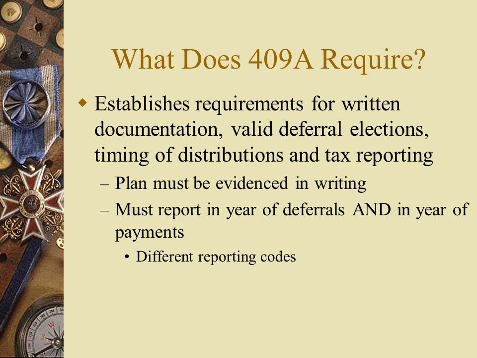What Does 409A Require.