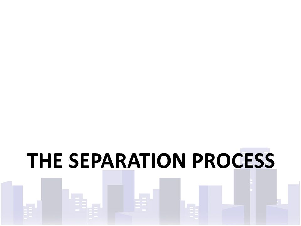 THE SEPARATION PROCESS