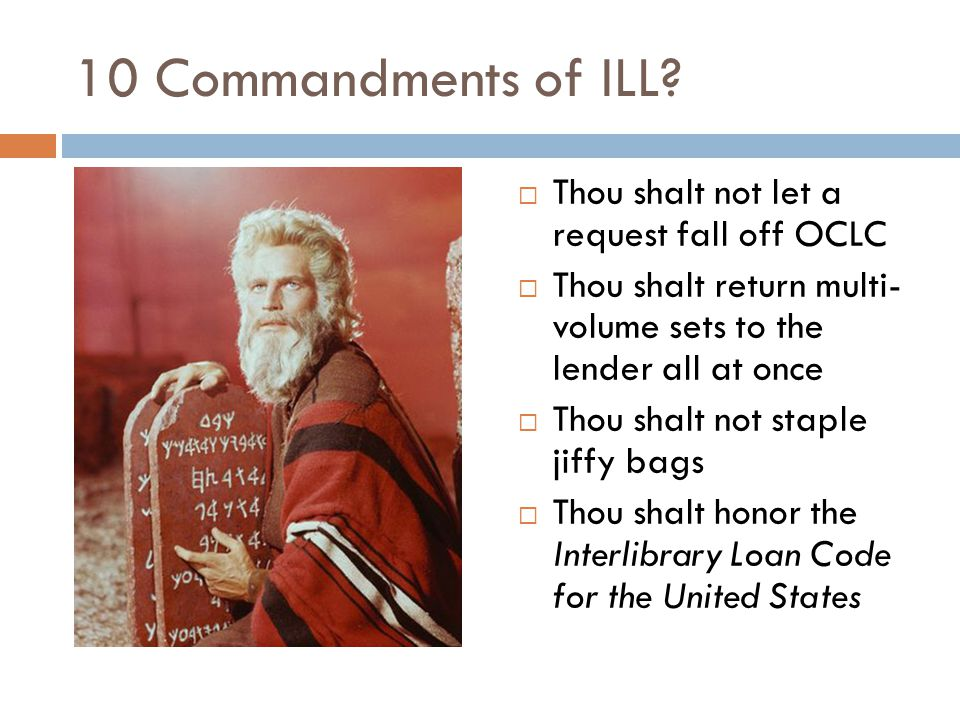 10 Commandments of ILL.