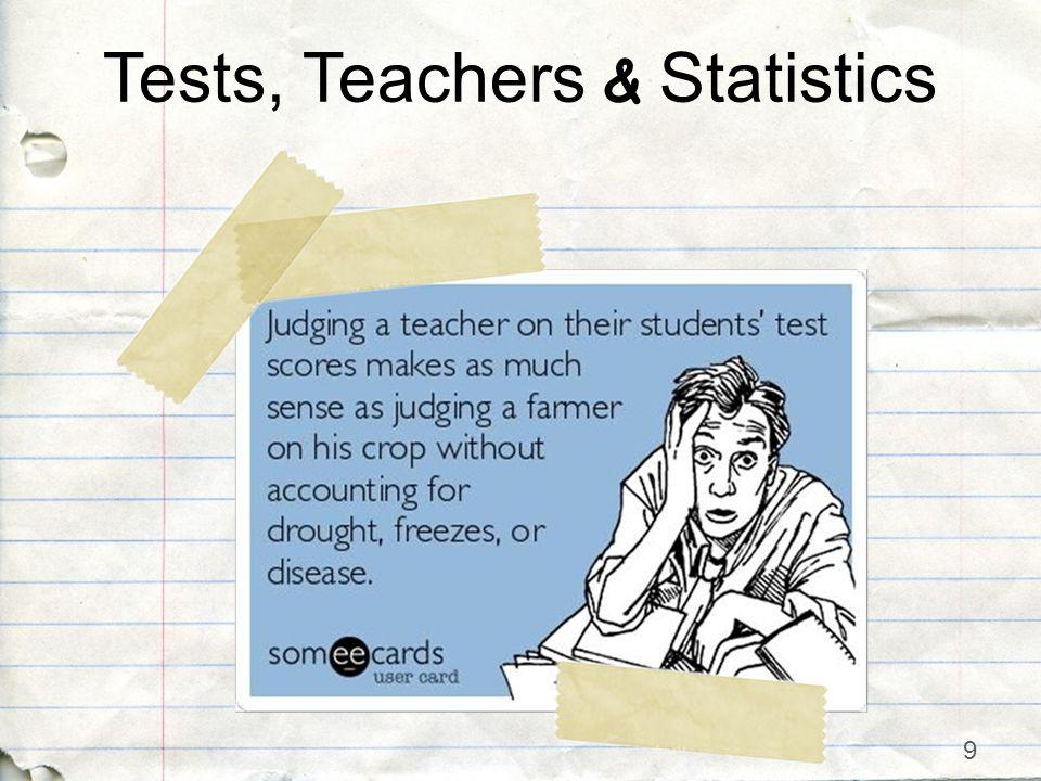 9 Tests, Teachers & Statistics