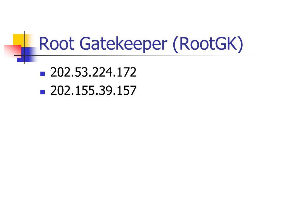 Root Gatekeeper (RootGK) 202.53.224.172 202.155.39.157
