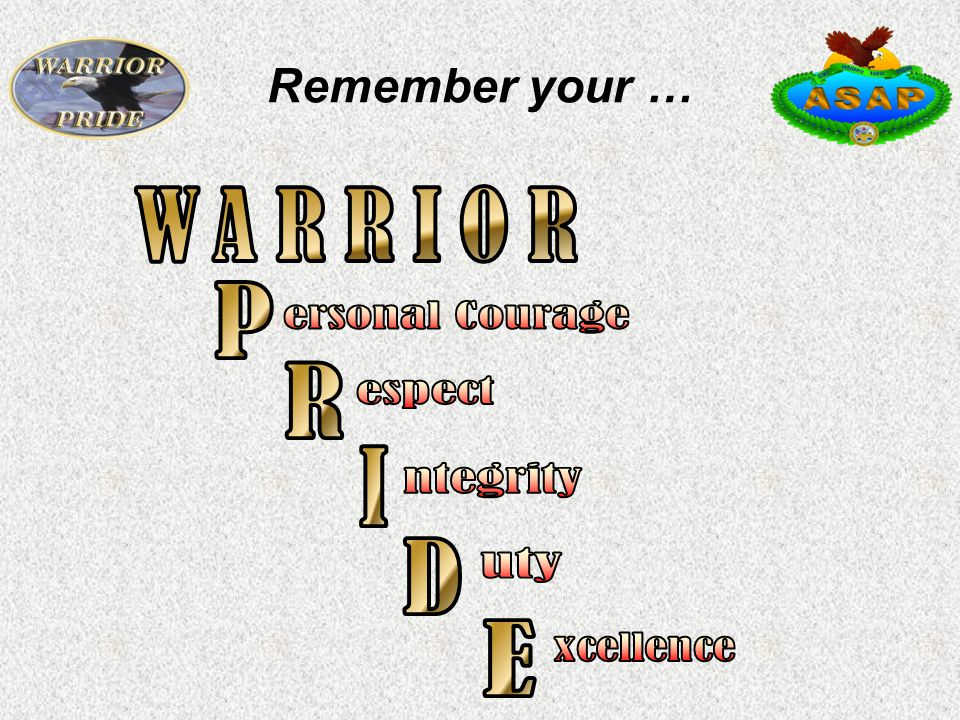 Remember your …