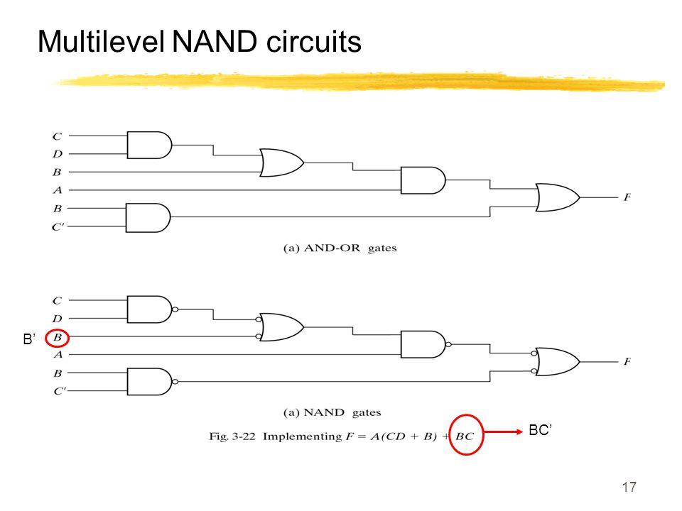 17 Multilevel NAND circuits BC' B'