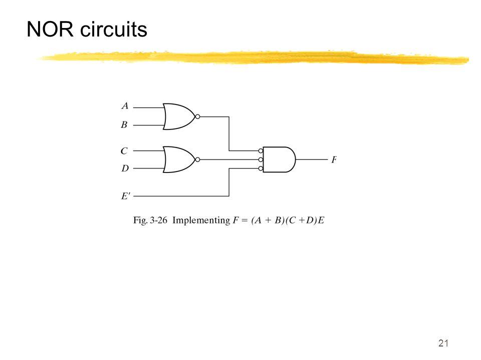21 NOR circuits