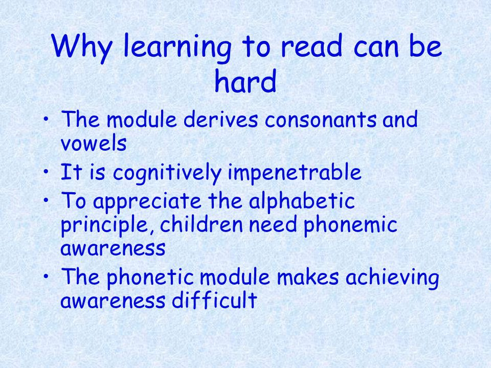 But why is reading even possible It is not just possible, it can get so easy that people read for pleasure.