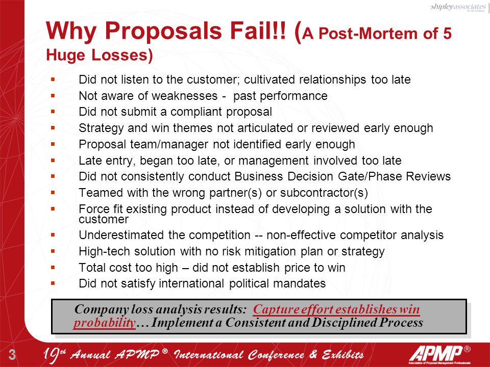 3 Why Proposals Fail!.