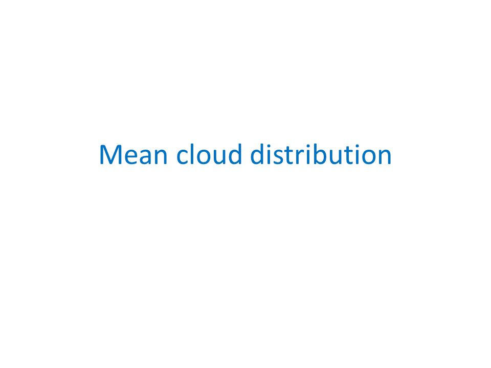 Mean cloud distribution