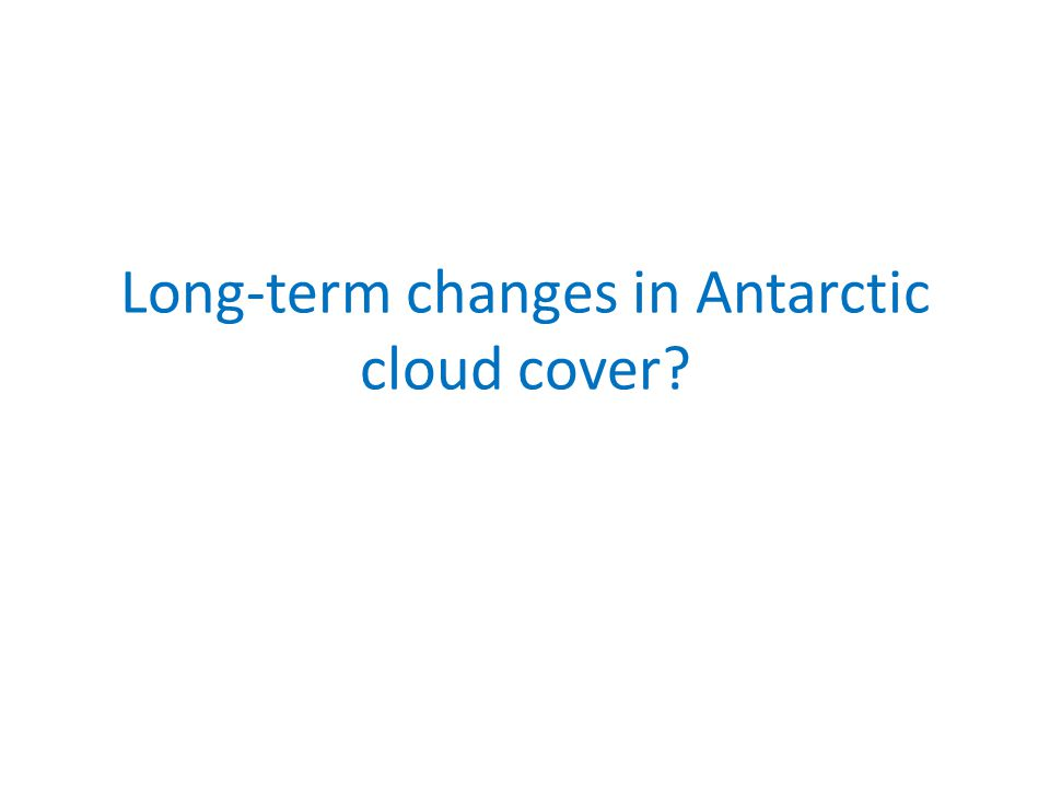 Long-term changes in Antarctic cloud cover