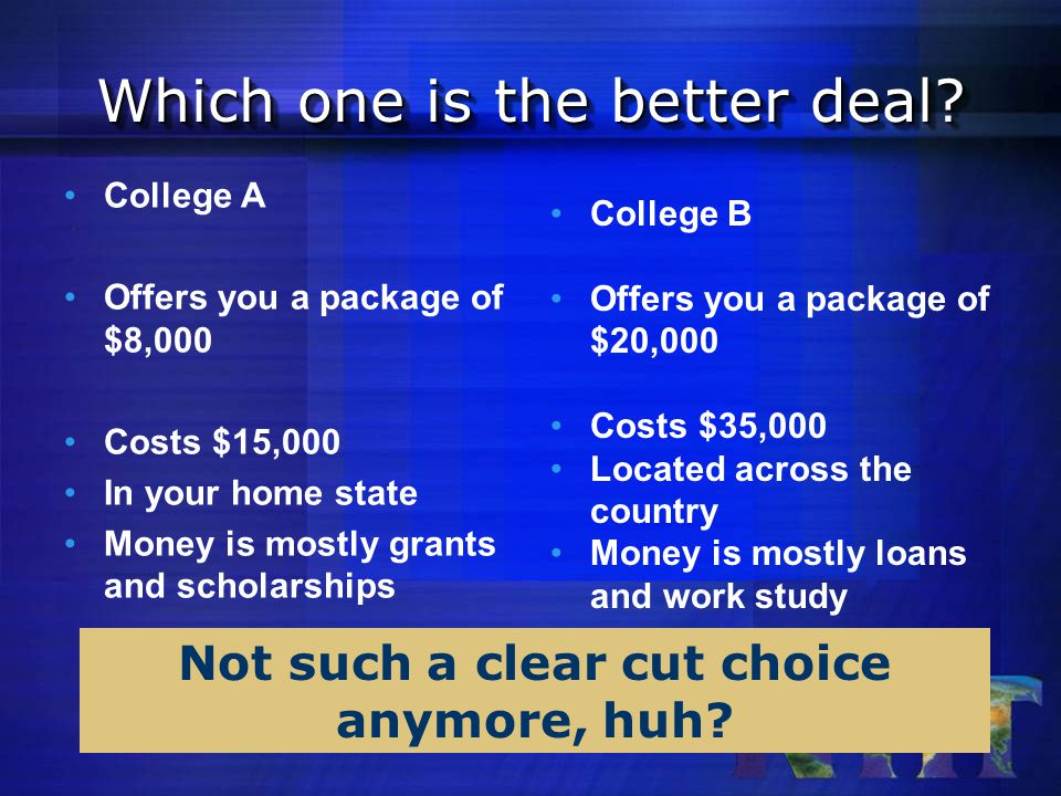 Which one is the better deal.