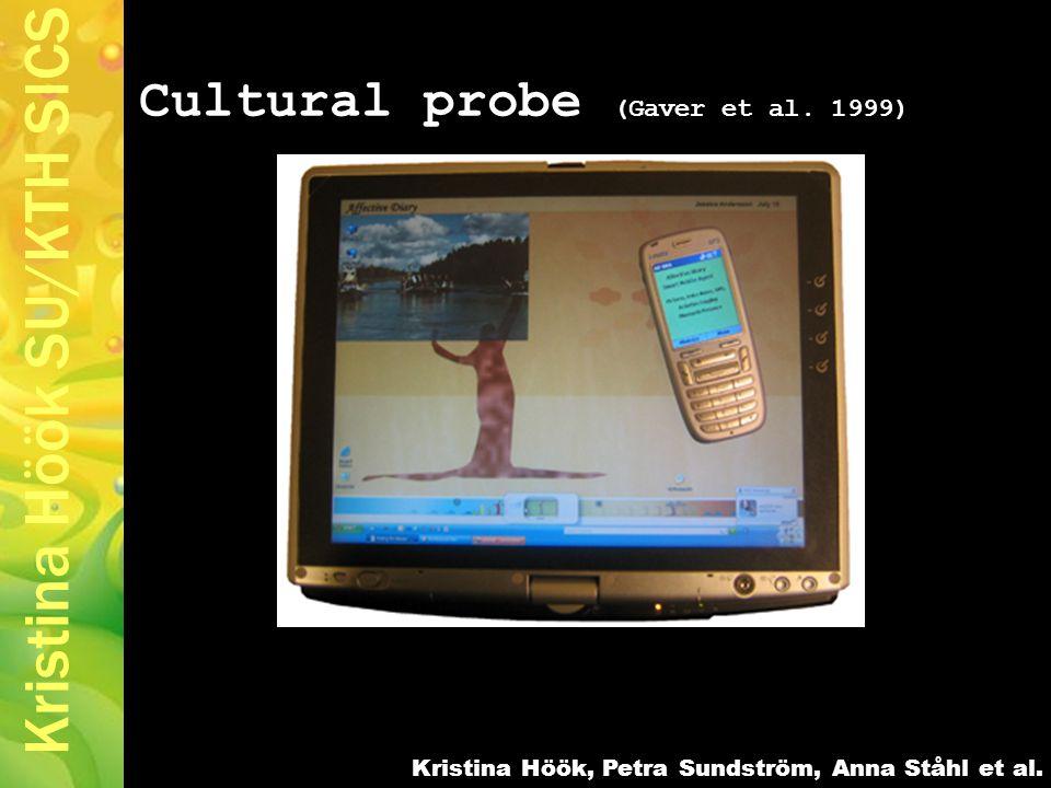 Kristina Höök SU/KTH SICS Cultural probe (Gaver et al.
