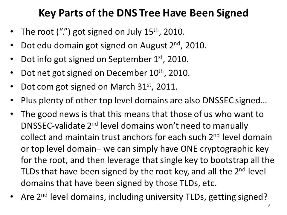 Are Any Schools Currently Signing Their 2 nd Level dot edu domains.