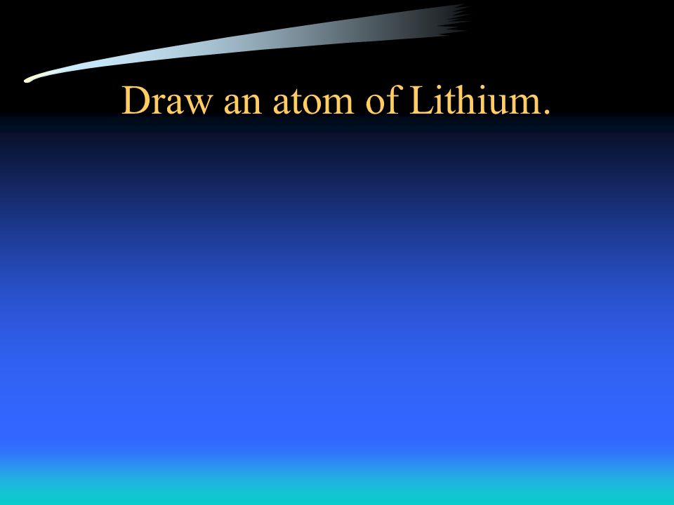 Draw an atom of Lithium.