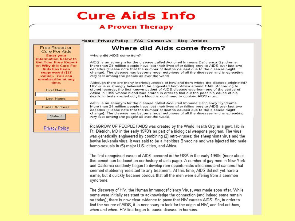 The origin of HIV .