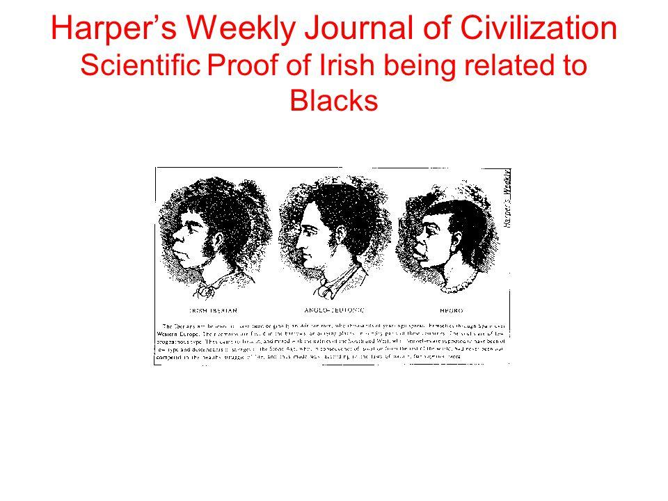 Harper's Weekly Journal of Civilization Scientific Proof of Irish being related to Blacks