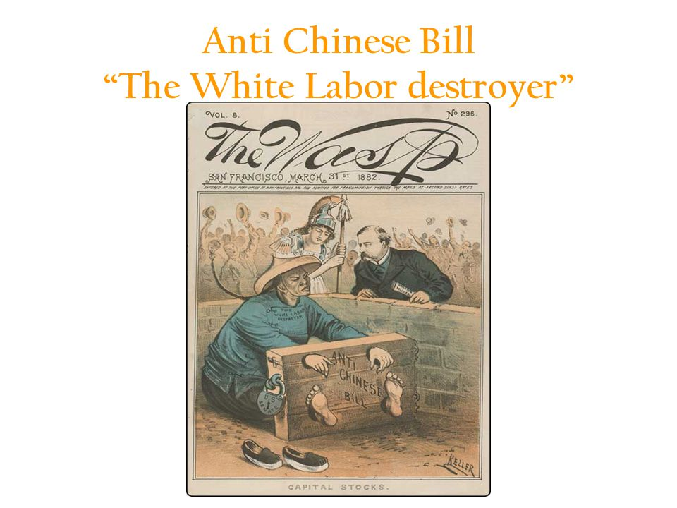 Anti Chinese Bill The White Labor destroyer 1
