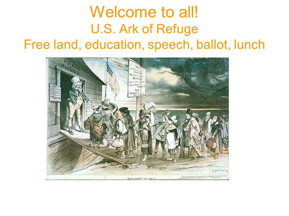 Welcome to all! U.S. Ark of Refuge Free land, education, speech, ballot, lunch 1