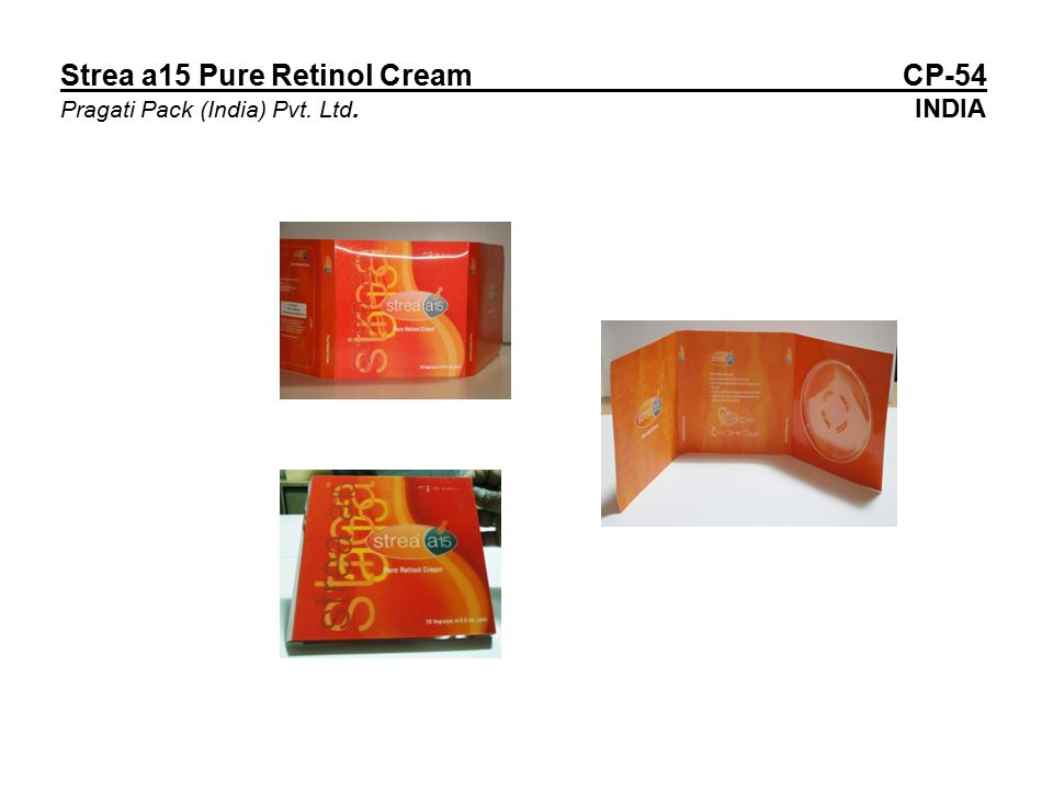 Strea a15 Pure Retinol Cream CP-54 Pragati Pack (India) Pvt. Ltd. INDIA