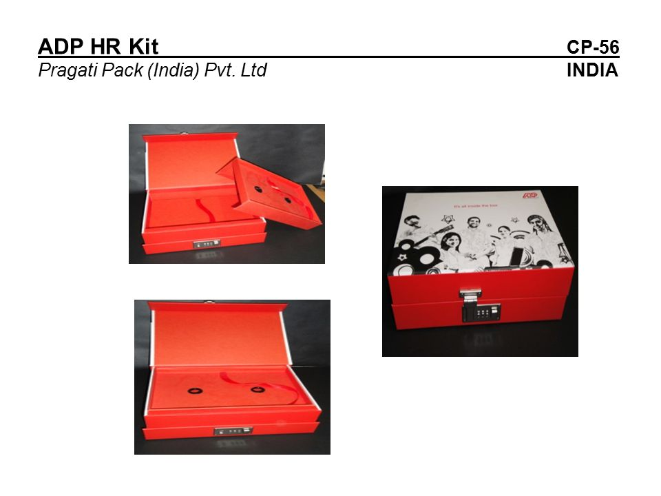 ADP HR Kit CP-56 Pragati Pack (India) Pvt. Ltd INDIA