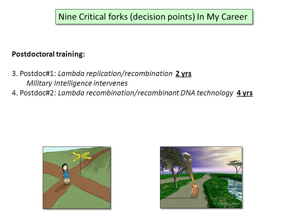 Postdoctoral training: 3.