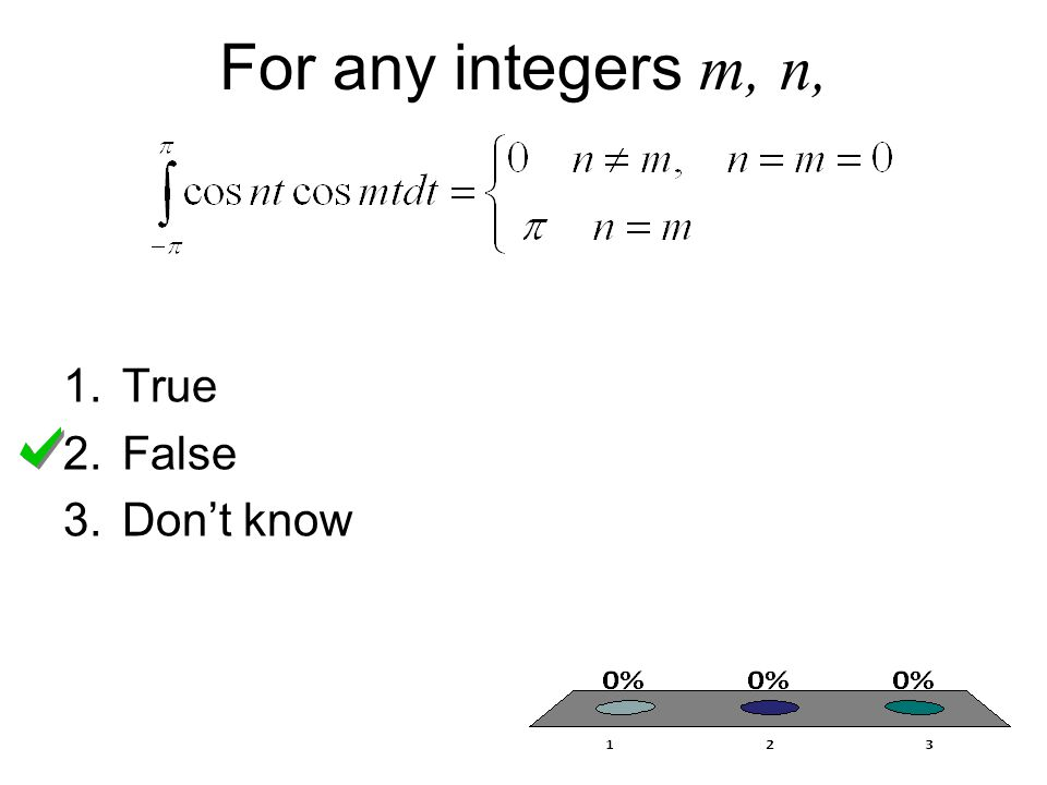 For any integers m, n, 1.True 2.False 3.Don't know